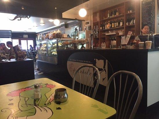 Espressoholic: Trendy surroundings and plenty of seating.