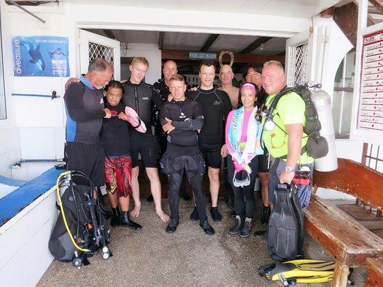 Capt'n Gregg's Accommodation: 預備潛水的裝備室