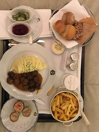 Room Service While My Poor Attendant Struggled To Get My Tv To Work Picture Of Grand Hotel Stockholm Tripadvisor
