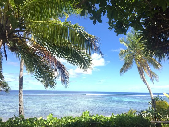 Tongatapu Island, Tonga: This was the view that greeted us from our balcony on the first day