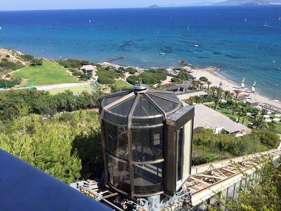 Robinson Club Daidalos: Aufzug zum Strand