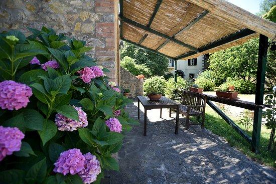 Agritur de Charme Villa Stampa: Angolo relax per gli ospiti della casa Granaio