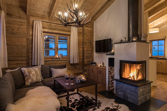 Schroecken, Austria: every chalet has an open fire place for cosy atmosphere