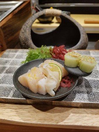 Dining at Murasaki: Scallop Sashimi