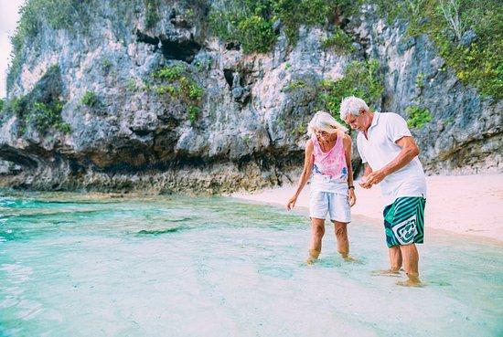 Real travellers at Hio Beach, Real Niue.