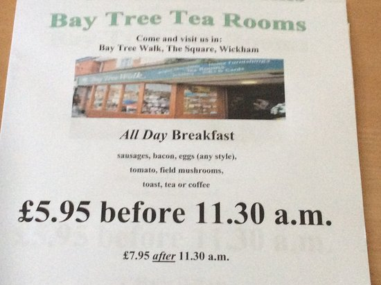 Wickham, UK: Breakfast special with free range eggs