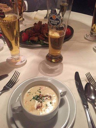 Marjellchen: potato soup with bacon