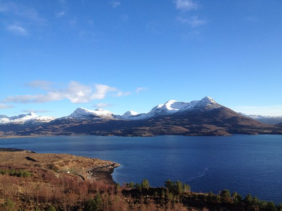 The Torridon Inn: The Inn would be across the water