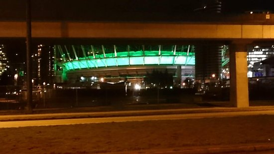 B.C. Place Stadium: Lit up green - Paddy's Day 2017