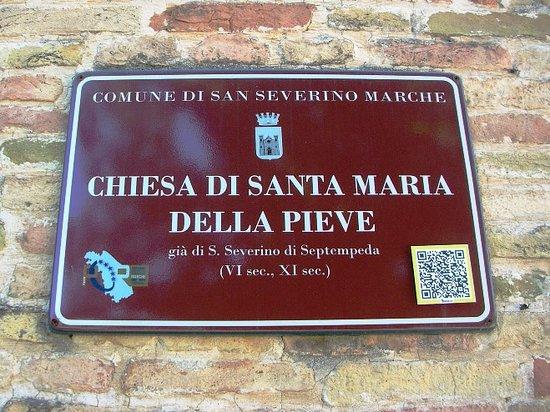 San Severino Marche, Italy: Cartello turistico comunale