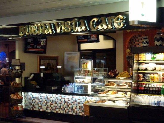 "San Bruno, CA: the ""grab 'n go"" & register for the Buena Vista Cafe"