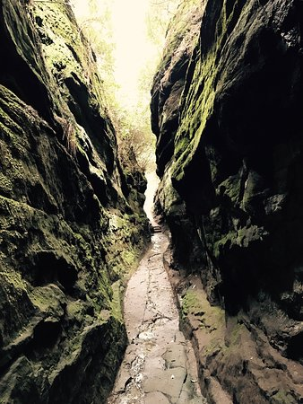 Hawkstone Park Follies: Amazing walks through gorge