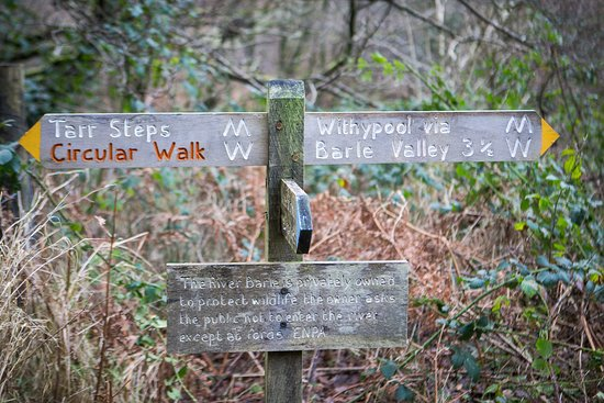 Tarr Steps, UK: Good signage for the local walks