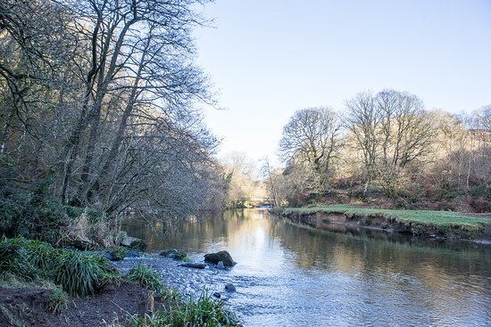 Tarr Steps, UK: Peaceful walks along the River Barle in the wooded valley, right by the Inn