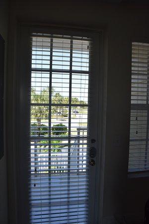 Ruskin, FL: View from inside front door of street and parking below.