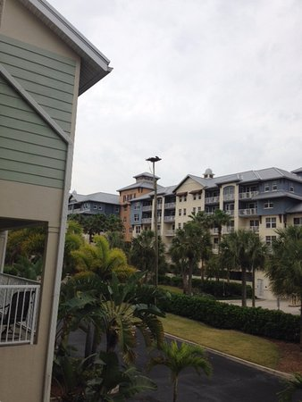 Ruskin, FL: View of Harborside suites across the street. From our first floor balcony. Streetside.