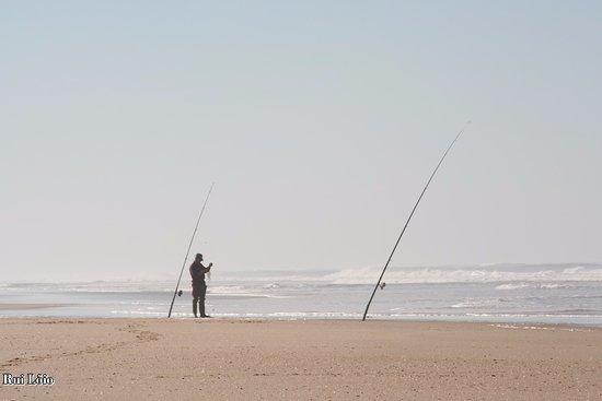 Praia dos Palheiros da Tocha: Pesca desportiva