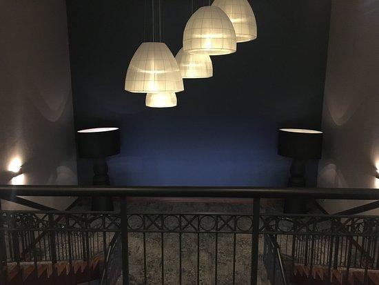 Melle, Germany: stylischer Treppenaufgang zu den Tagungsräumen