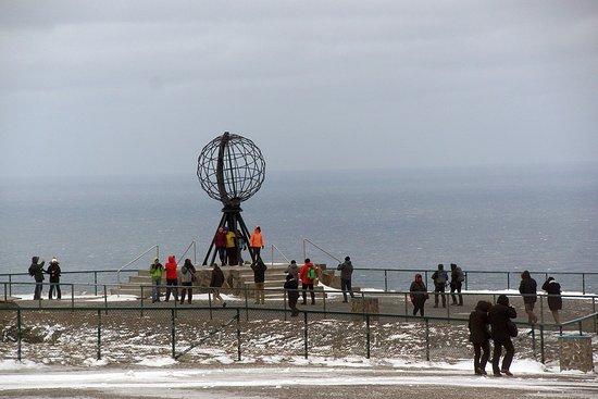 Nordkapp Municipality, Norway: the famous globe