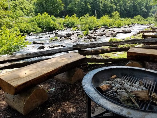 Robbinsville, NC: Fire pits overlooking the river