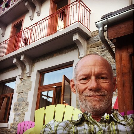 Seez, France: Selfie from patio.