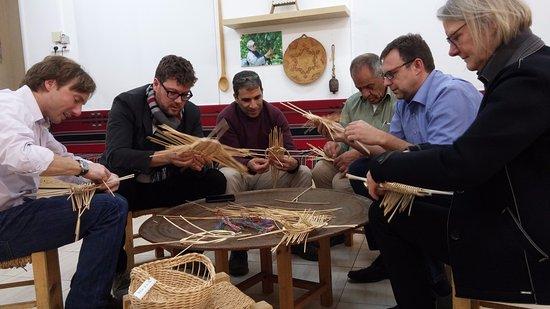 Kfar Cana, Israel: Weaving baskets workshop