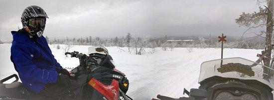 Snow Fun Safaris Lapland: At the top of fell Kuer