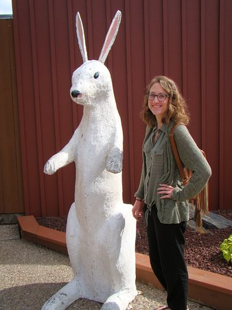 Wall, Dakota del Sur: Photo Op with the 6 foot white rabbit