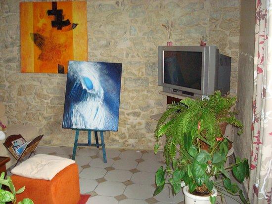 Biaudos, France : salon et télévision