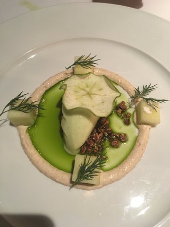 Cookies Cream: Apple Sorbet with Dill