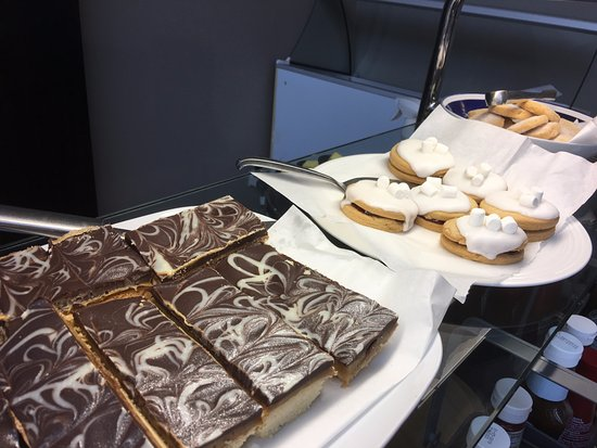 Cafe Circa at the Atrium: selection of hand made tray bakes and biscuits