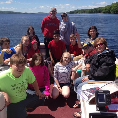 Oakland, ME: Students on a field trip