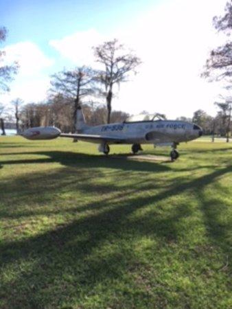Florala, AL: Plane on display
