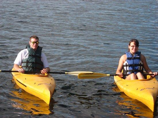 Bolton Landing, NY: Kayaking on the lake