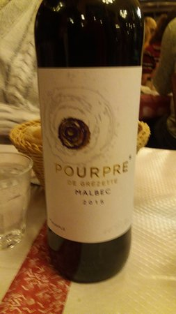 the wine we enjoyed a lot