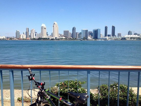Coronado, CA: a scene from a bike tour
