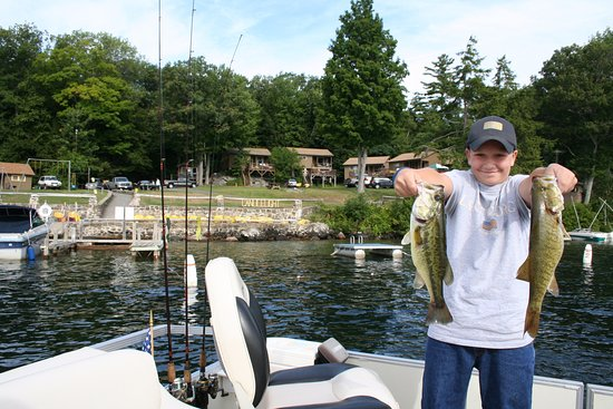 Bolton Landing, NY: The Fishing off our docks is excellent!