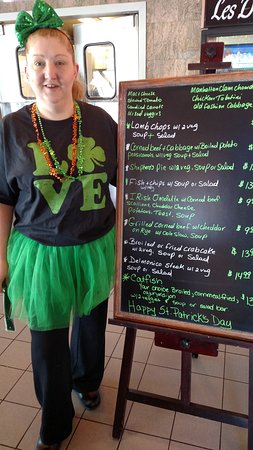 Lawrenceville, NJ: St Patrick's Day specials are great. Seafood options for Lent are always a hit