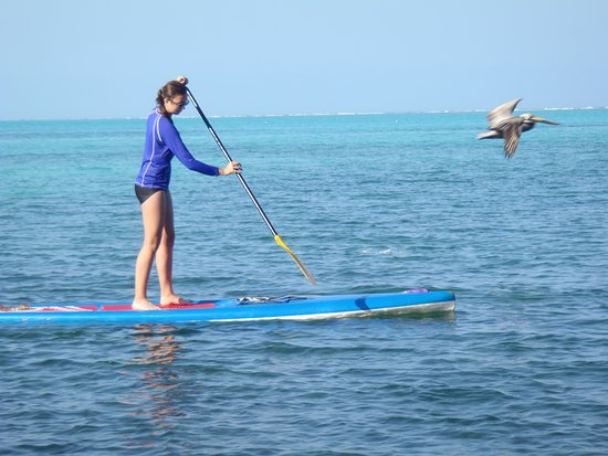 Belize Cayes, Belize: Granddaughter stand up paddleboarding