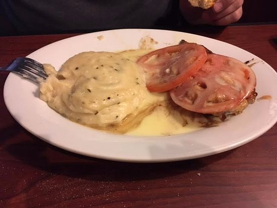 Garner, NC: Chicken Fresco with mashed potatoes