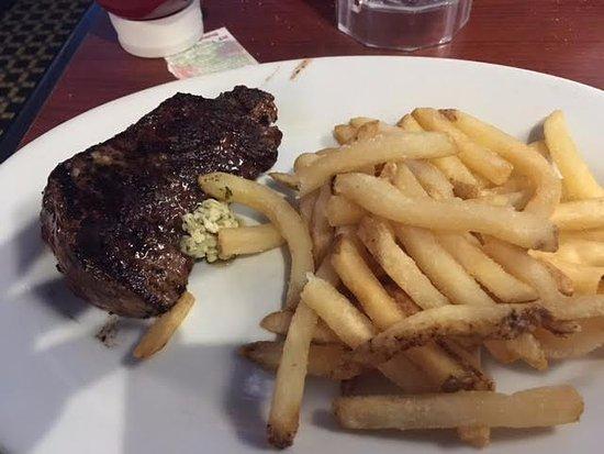 Garner, NC: 6 oz. sirloin with fries