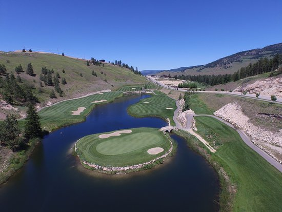 Kelowna, Canada: Aerial View of our Signature Hole #5