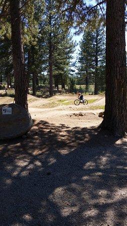 Truckee, CA: Riding through the park
