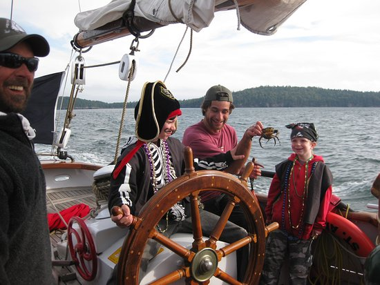 Saint Andrews, Canadá: Tall Ship Pirates, touch tank crab!