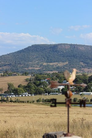Kalbar Showgrounds with Mt French in the background.