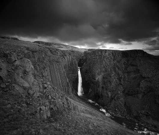 Hallormsstadur, Islandia: Litlanesfoss, downstream from Hengifoss