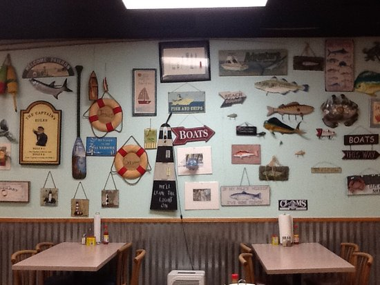 Ridgeland, Güney Carolina: The most interesting wall in the resturant.