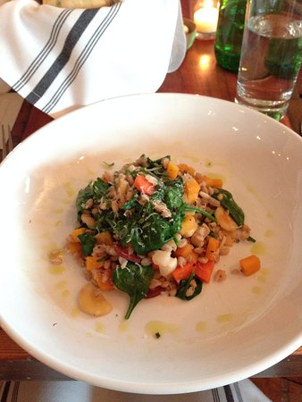 Taylor, MS: Farro salad (section 01, nice, but not amazing)