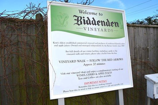 Biddenden, UK: the sign