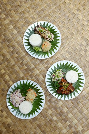 Colonia, Federated States of Micronesia: Fresh sashimi and homemade papaya pickles